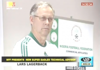 Eagles' Technical Adviser, Lars Lagerback who was officially unveiled today