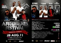 P-square, Wizkid, Iceprince & Basketmouth at London's Afrobeats festival 2011