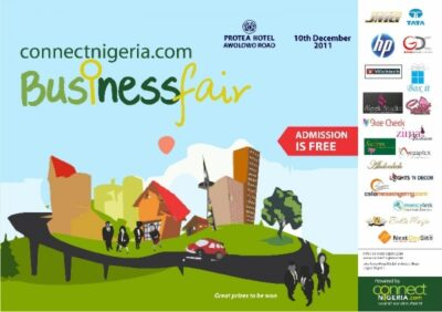 Connect Nigeria will debut with their inaugural ConnectNigeria.com Business Fair in Lagos on Saturday December 10, 2011 at the Protea Hotel, 22 Awolowo Road, Ikoyi, Lagos.