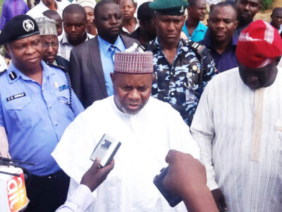 ACTING GOVERNOR OF TARABA INSPECTS PROJECT IN TAKUM LGA