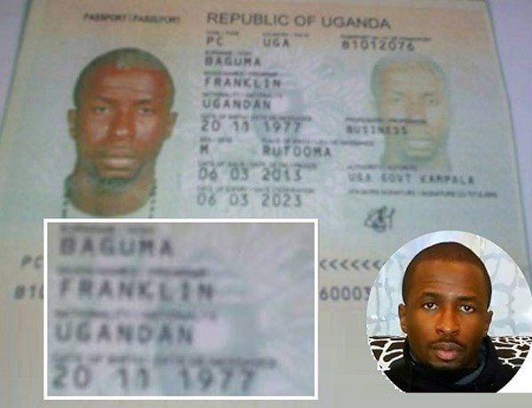 The passport Franklin Emuobor Ebenhron was alleged to be using.