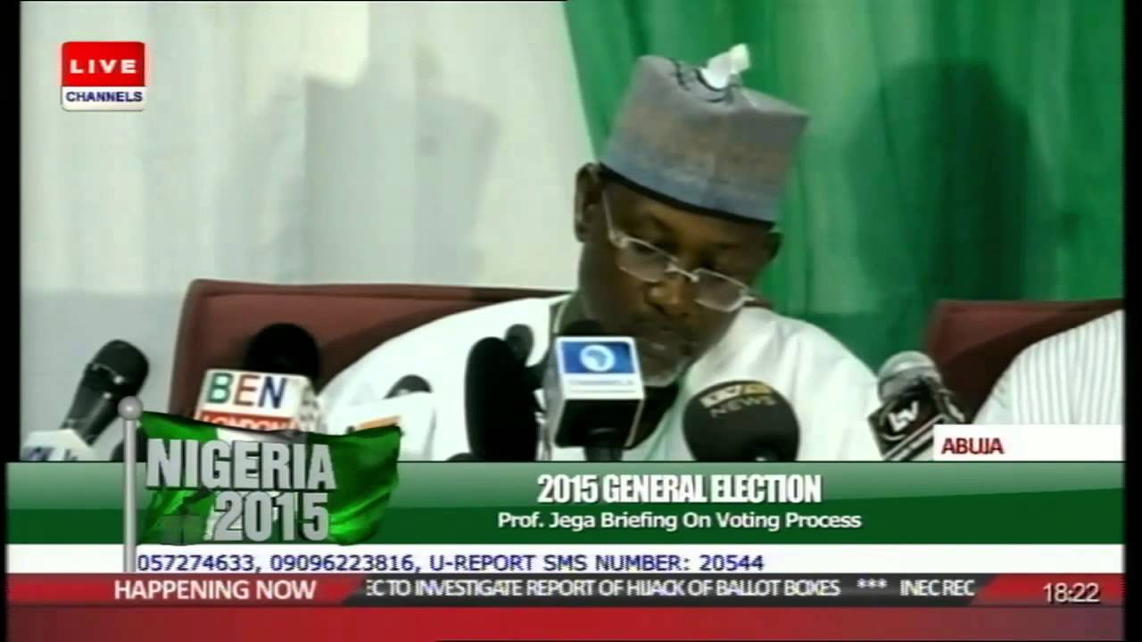 AY Live presents – Prof Jega in Election Results Collation
